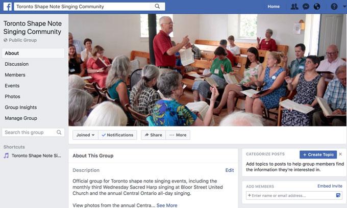 Toronto Shape Note Singing Community
